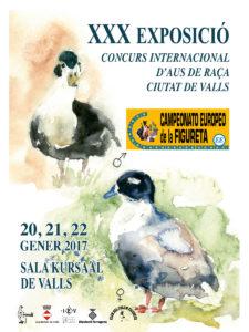 XXX Exposició Concurs Internacional d'Aus de Raça - Ciutat dels Valls @ Sala Kursaal de Valls