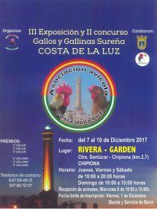 III Exposición y II Concurso Gallos y Gallinas Sureña - COSTA DE LA LUZ @ RIVERA - GARDEN | Chipiona | Andalucía | España